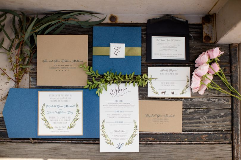 Olive Paper Invitations Charlotte Nc Weddingwire