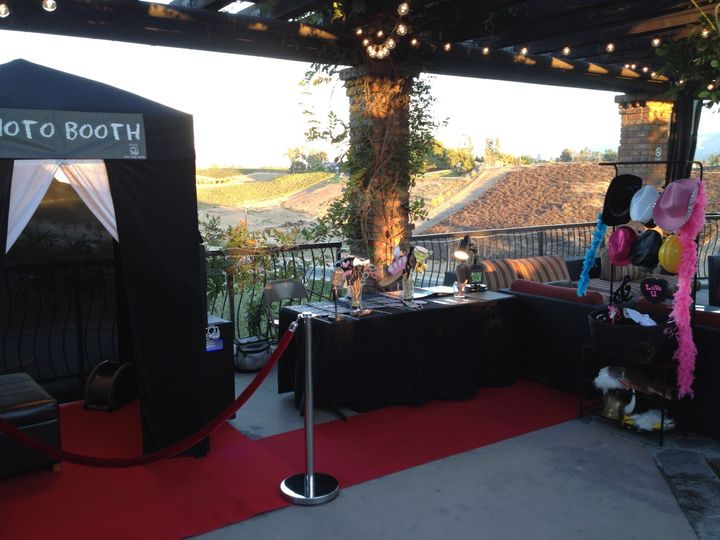 10 person enclosed booth in the wine country.