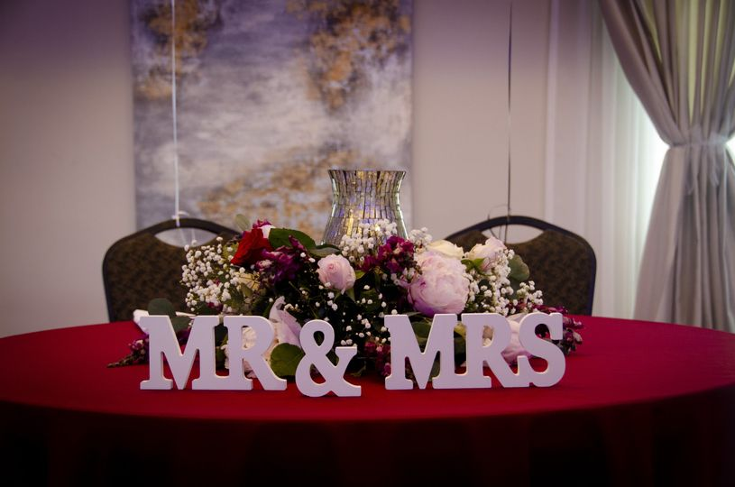 Mr. and Mrs. table
