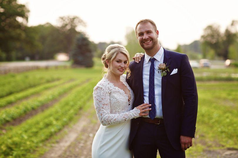 Couple's post wedding photo