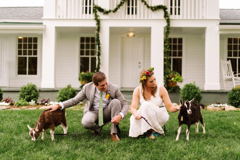 Post wedding photo at the farm
