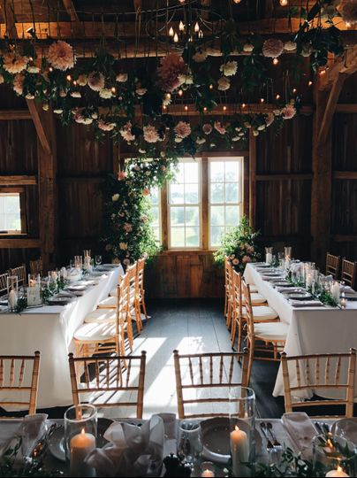 Reception in the barn
