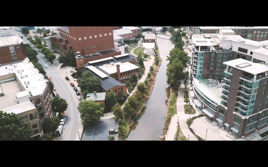 DT Greenville drone shot