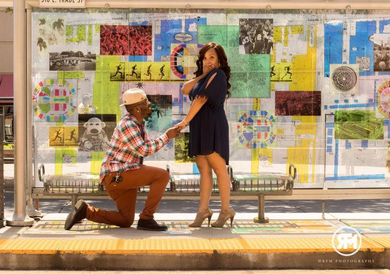 Couple's engagement photoshoot