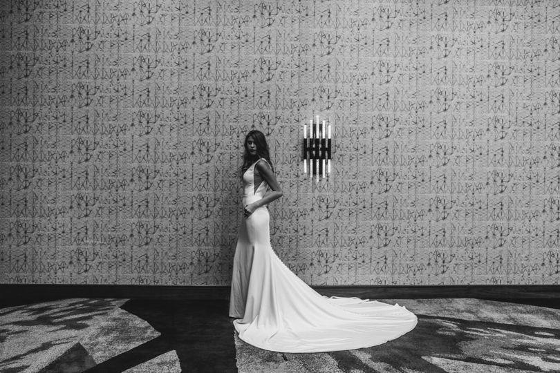 Bride in Ballroom