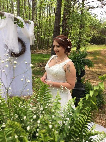 Bride ready to walk down isle