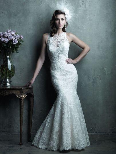 Wedding dress with mermaid botom