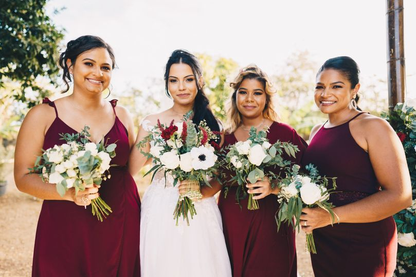 The Bride & Bridesmaids