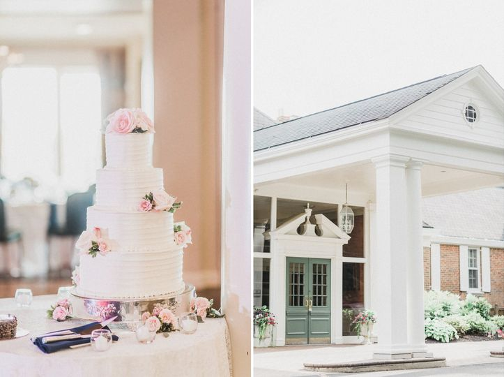 Wedding cake by Tavistock.