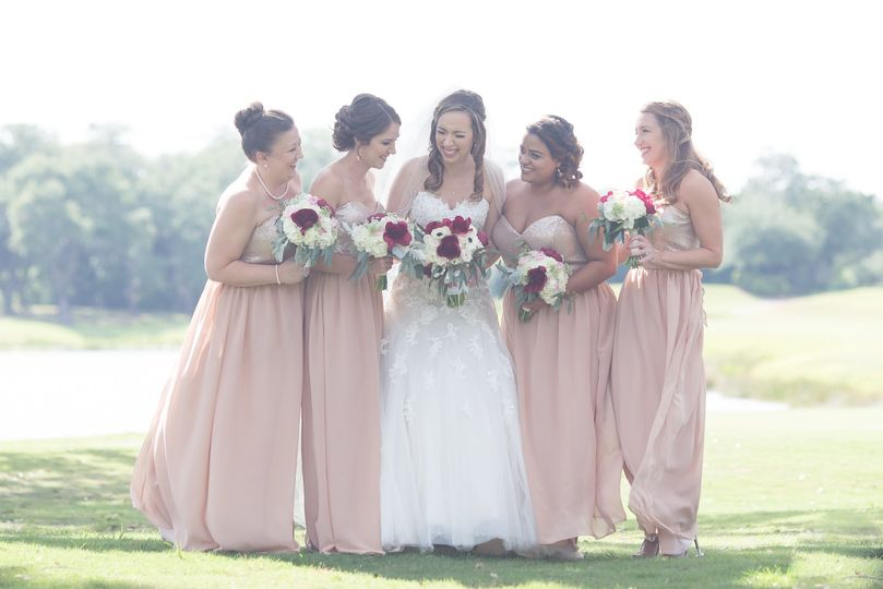 Bridesmaids Looking Sunny