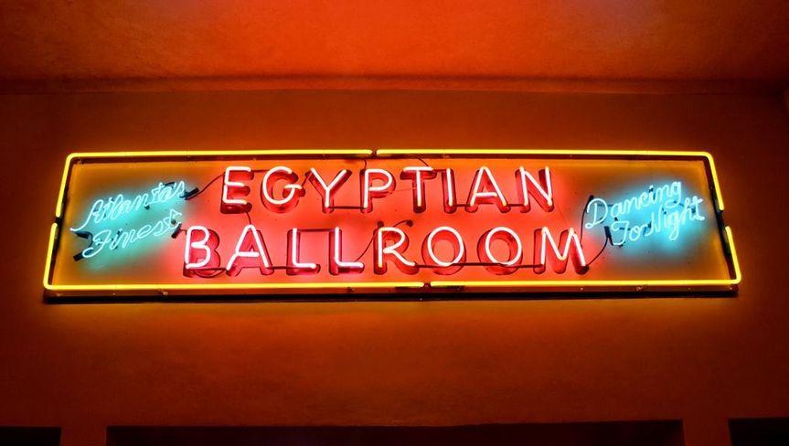 Egyptian ballroom signage