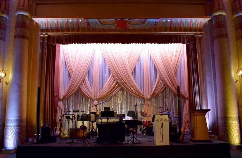 Band stage setup
