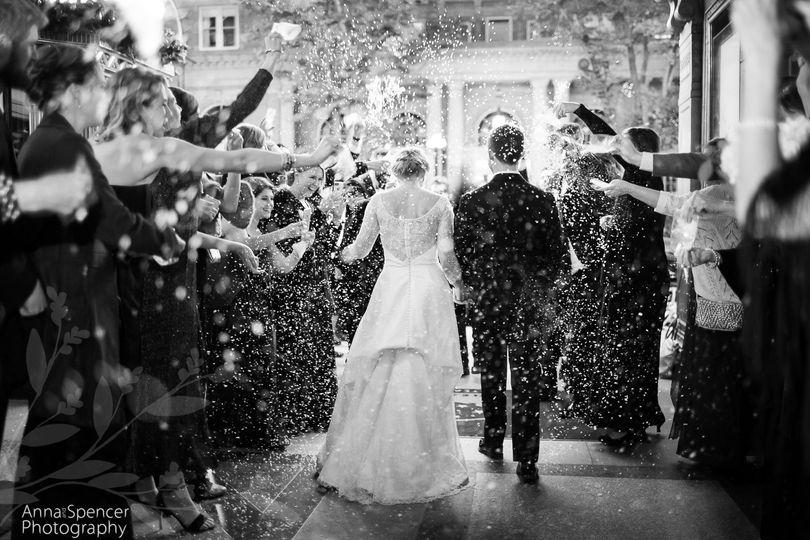 confetti wedding exit at the fox theatre