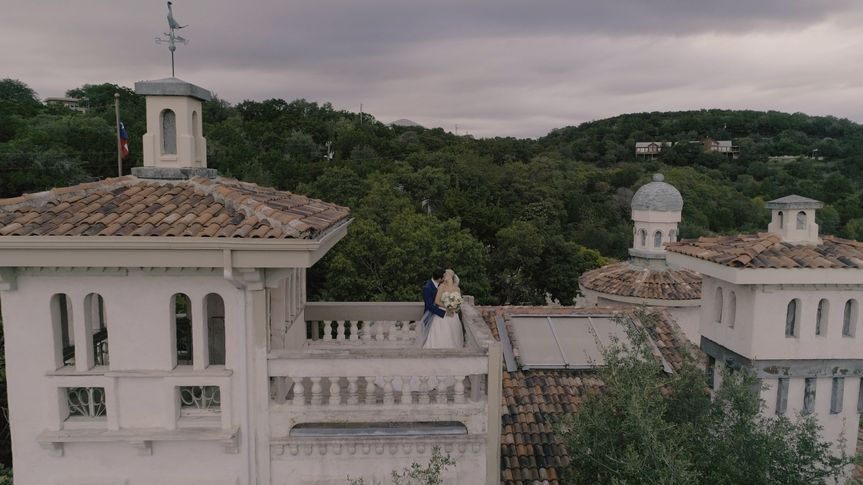 Drone shot over Villa Antonia