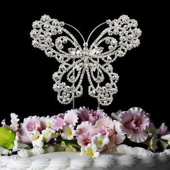 Beautiful Swarovski Crystal Cake Topper or Cake Jewelry