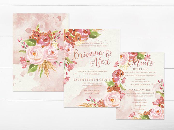 Tmx 1456330433823 Invitation2 Tulsa wedding invitation