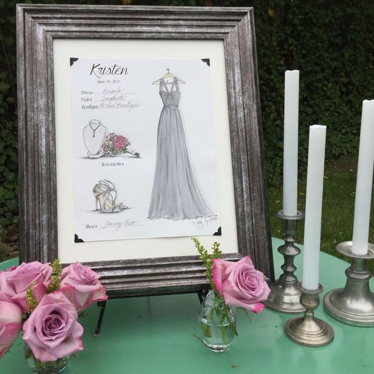 Bridesmaid Fashion Card