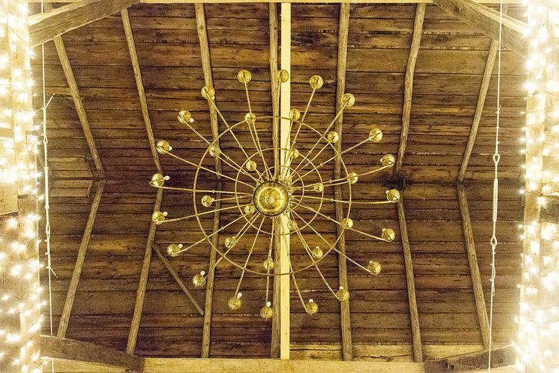 Massive chandeliers