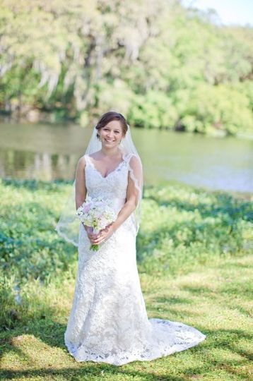 Bride by the lake