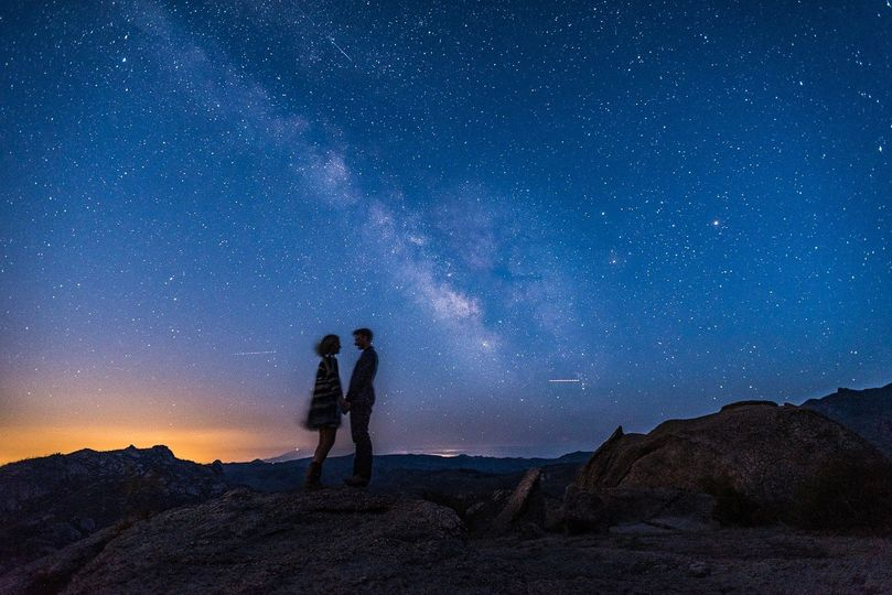 Milky way engagement photo