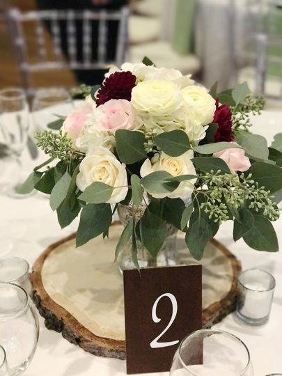 Classic colored centerpieces
