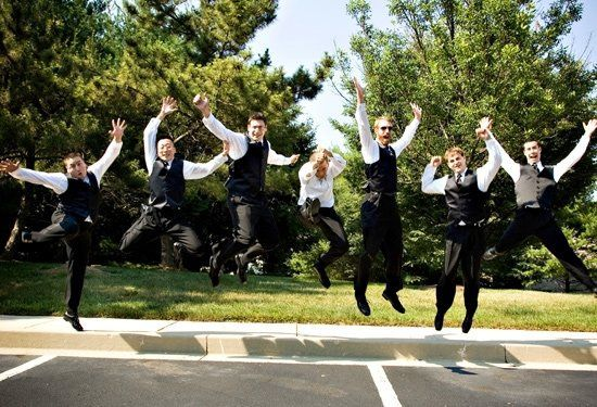 We always try to capture the groomsmen doing something fun!