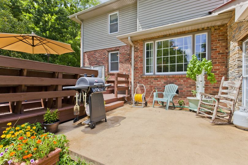Deck and BBQ grill