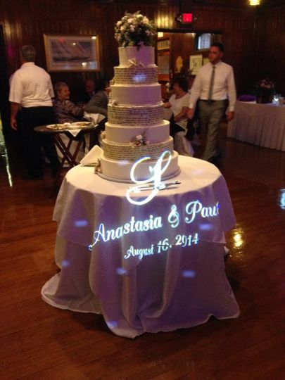 A custom gobo is a great addition to your wedding package!