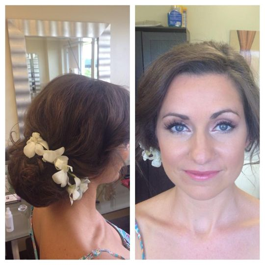 Wedding hair details