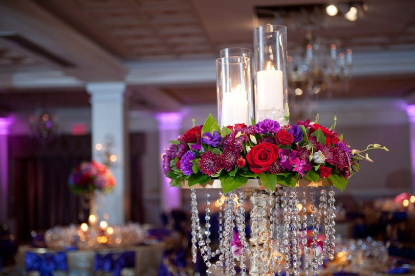 Jewel tones and candles