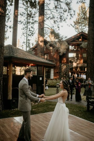 Black Bear Lodge  - bride and groom dancing