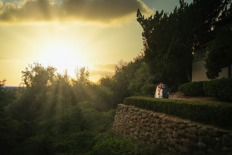 Wedding in at Sunset Sunrays