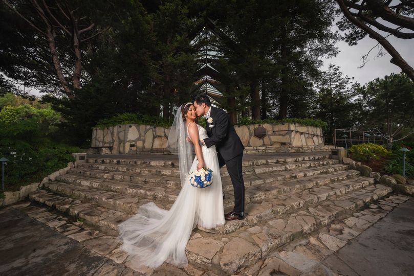 Wedding at Wayfarers Chapel