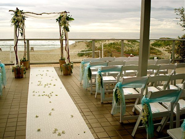 Beachfront ceremony setup