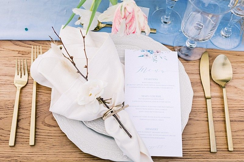 Spring Wedding Table Settings