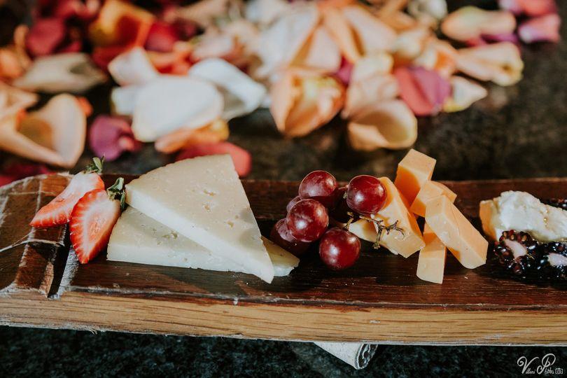 Featured: Drunk Goat Cheese on our oak wine barrel board