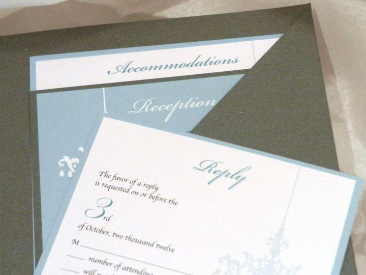 Tmx 1352767989822 TiffanyBlueGrayWeddingInsert2 Glen Ellyn wedding invitation