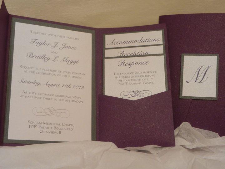 Tmx 1352768369248 2012092717.13.03 Glen Ellyn wedding invitation