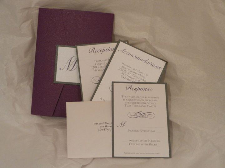 Tmx 1352768588175 2012092717.57.45 Glen Ellyn wedding invitation