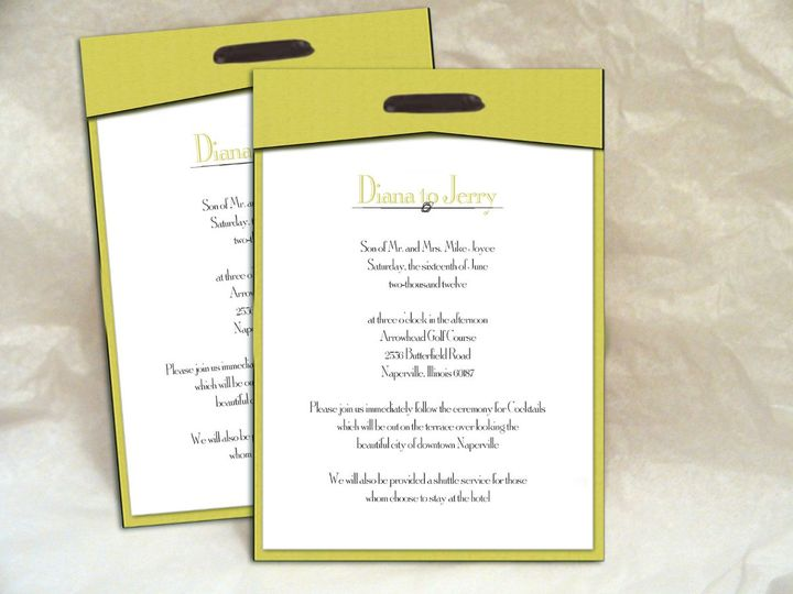 Tmx 1352769249641 GreenLayeredInvitations Glen Ellyn wedding invitation