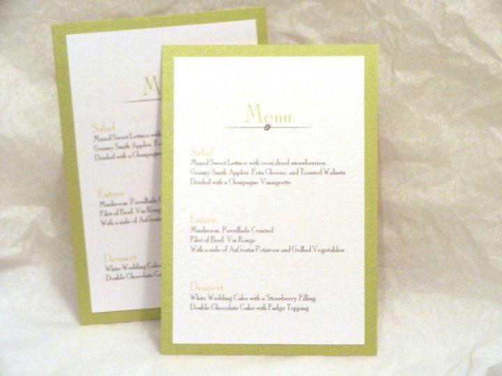 Tmx 1352769363452 GreenWeddingMenus Glen Ellyn wedding invitation