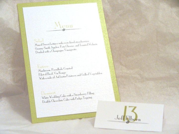 Tmx 1352769530461 GreenMenuPlaceSetting Glen Ellyn wedding invitation