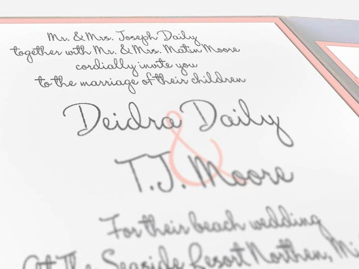 Tmx 1352769663735 PinkandTanWeddingInvitations2 Glen Ellyn wedding invitation