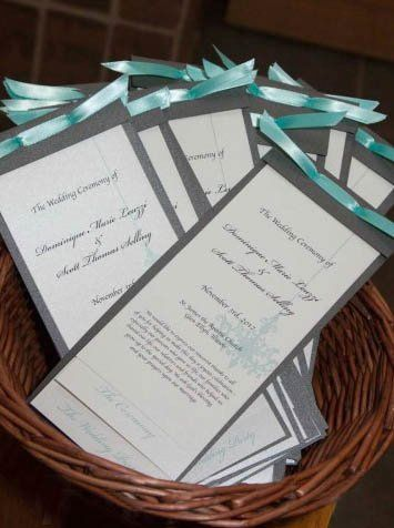 Tmx 1358170595060 TiffanyBlueWeddingPrograms2 Glen Ellyn wedding invitation