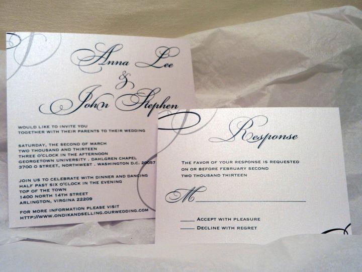 Tmx 1360162322520 BlueSilverCrystalWeddingSet Glen Ellyn wedding invitation