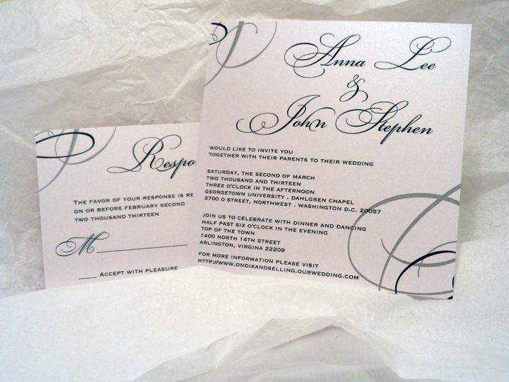 Tmx 1360162341717 BlueSilverCrystalWeddingSet3 Glen Ellyn wedding invitation