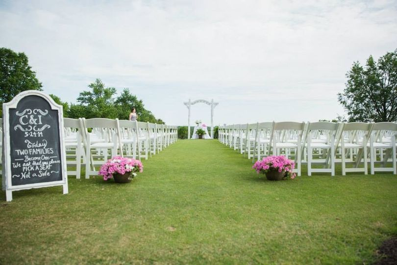 ECC's outdoor ceremony site accomidates over 200 guests