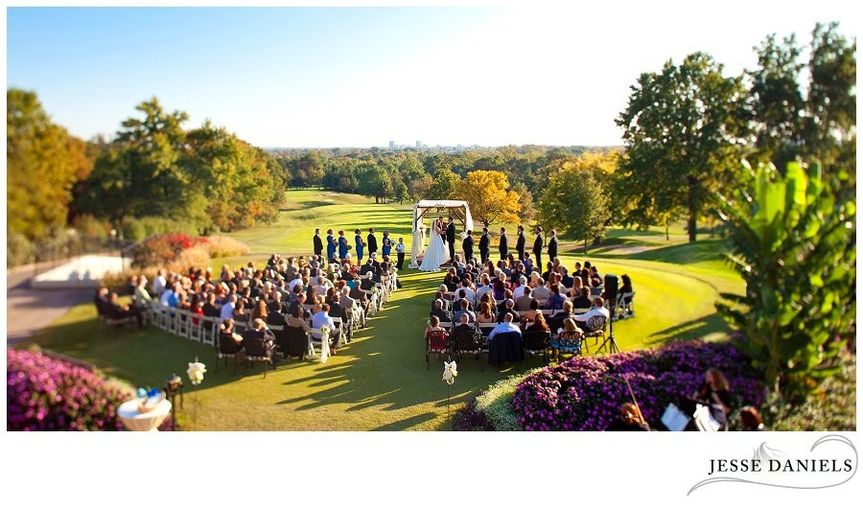 Our ceremony site has the best backdrop in Evansville- combining the beauty of nature and a sweeping...