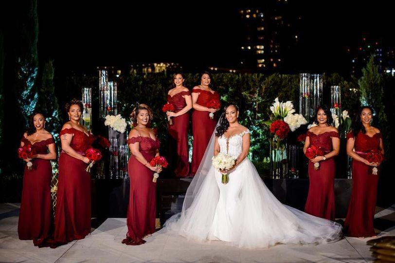 Kasey & her bridal gals