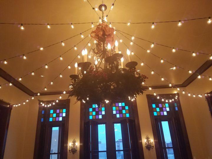 Lights over the dance floor in the Ballroom